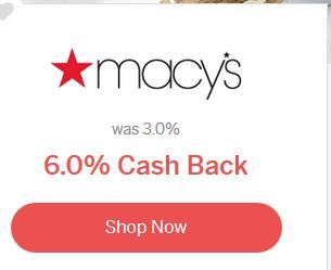 macys 6% cashback