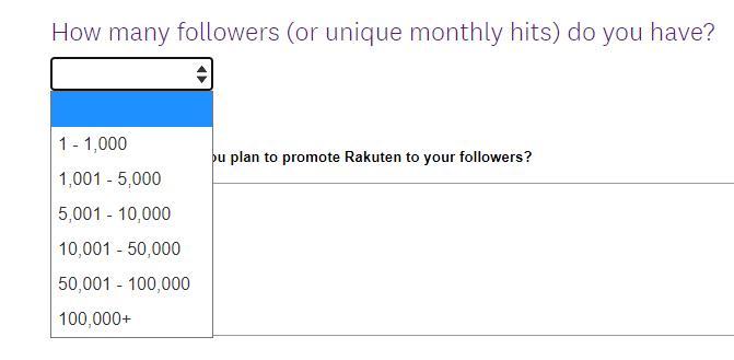 Подача заявок доступна даже для блогеров с небольшим числом подписчиков.