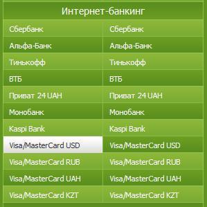 BestChange.ru - меняем доллары с виртуальной карты Visa на другие электронные деньги.
